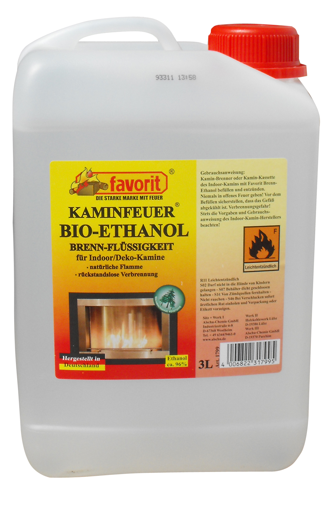 bio brennethanol bioethalnol bio ethanol 3l f r deko kamin feuerstelle 3 liter ebay. Black Bedroom Furniture Sets. Home Design Ideas