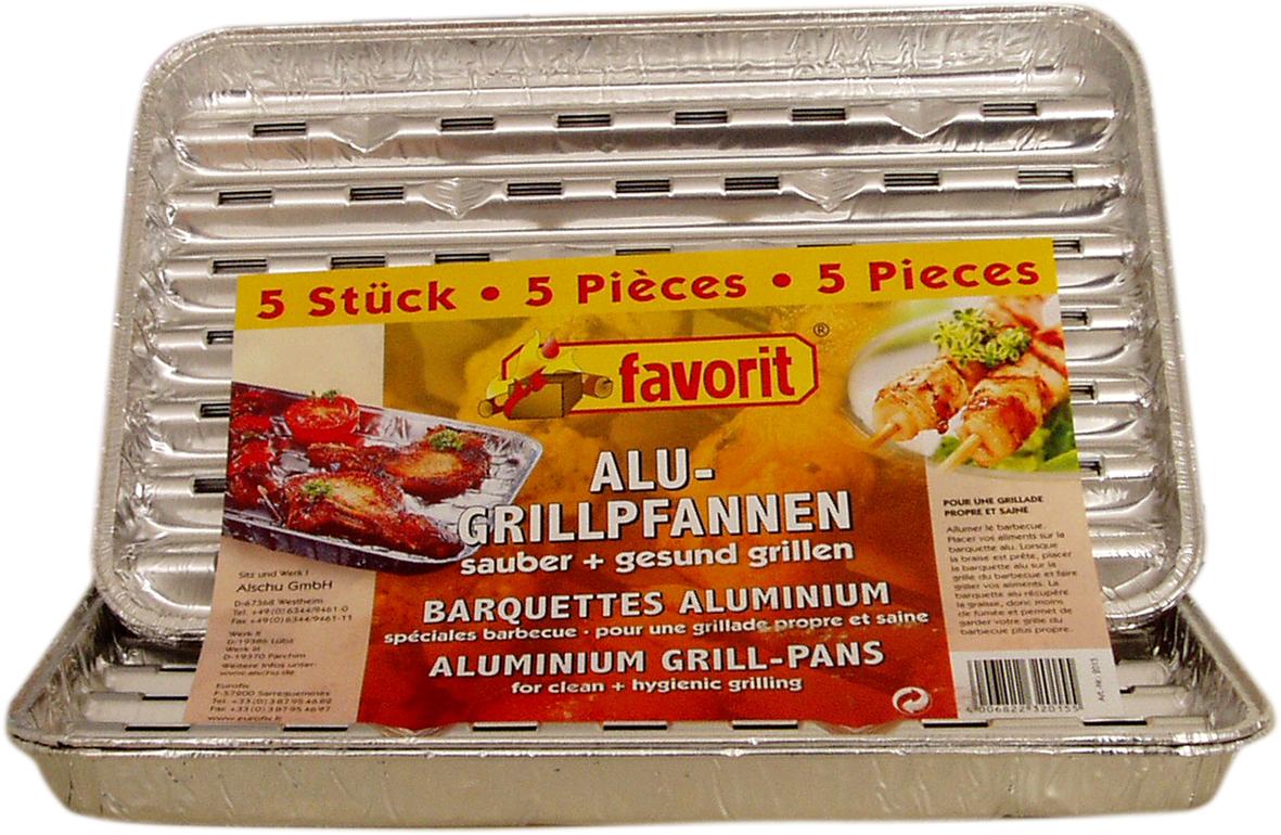 aluminium grill pan alupfannen aluschalen grill shells cooker pan