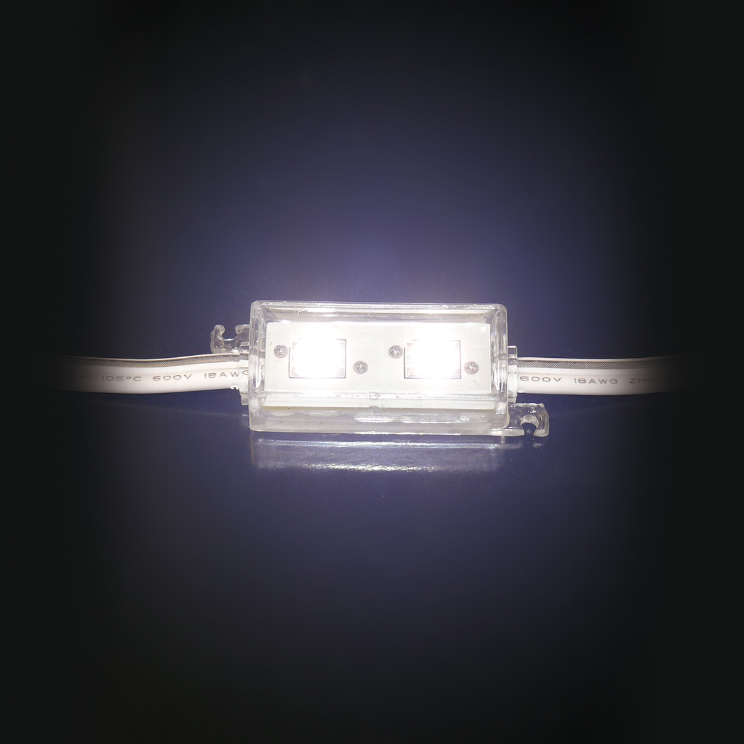LED-Modul-5050-2x-Power-SMD-LEDs-WEISS-IP65-12V-3-Chip-Technik-selbstklebend