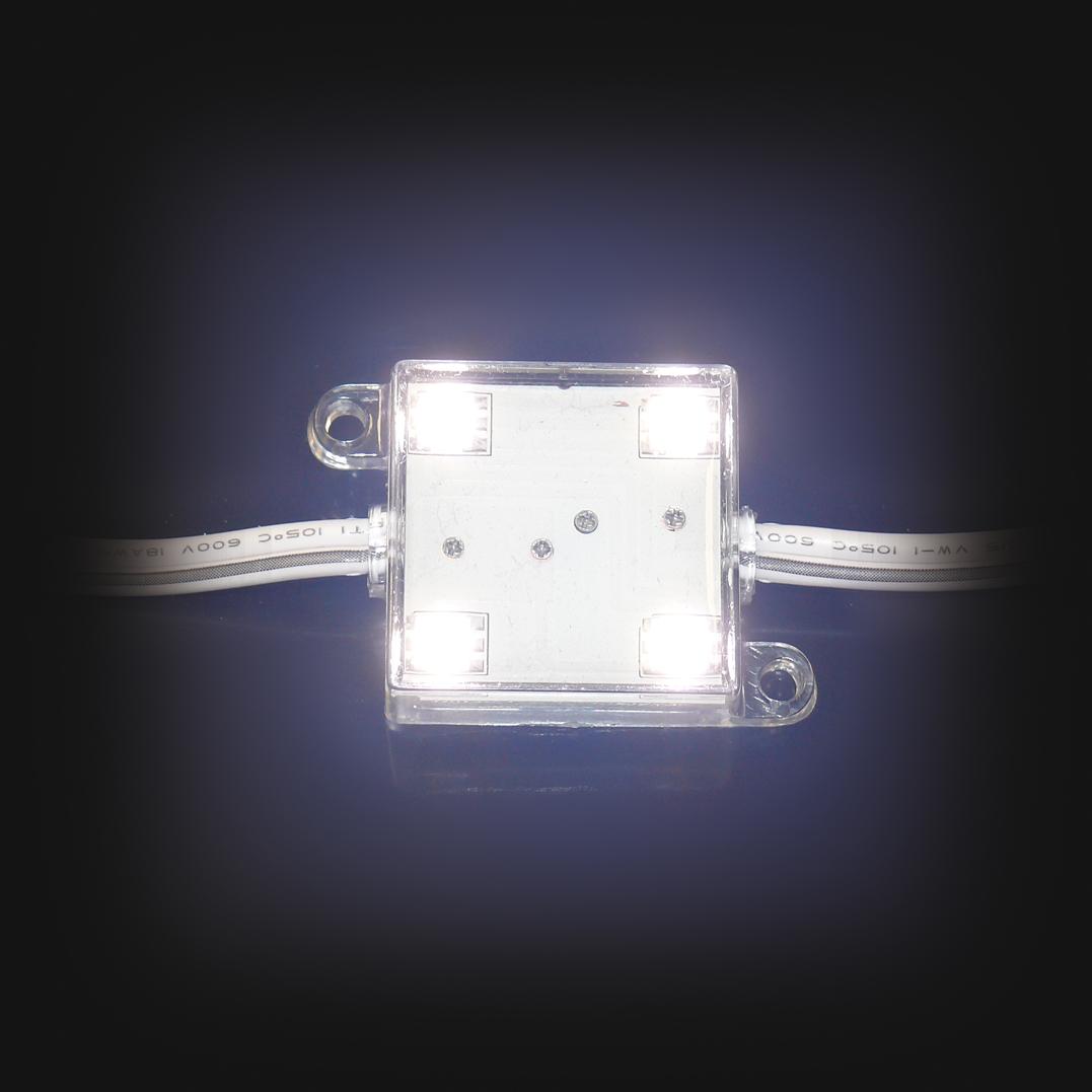 LED-Modul-5050-4x-Power-SMD-LEDs-WEISS-IP65-12V-3-Chip-Technik-selbstklebend