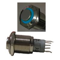Metall-Einbau-Taster-Klingeltaster-Tastknopf-mit-LED-blau-FREI-HAUS
