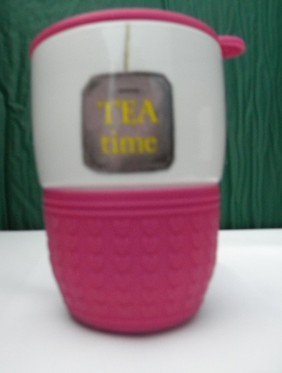 thermobecher tea to go becher 350 ml teebeutel design reisebecher pink ebay. Black Bedroom Furniture Sets. Home Design Ideas
